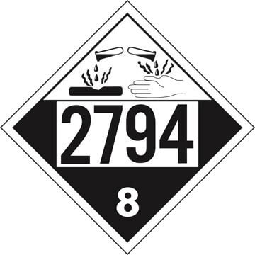 2794 Placard - Class 8 Corrosive