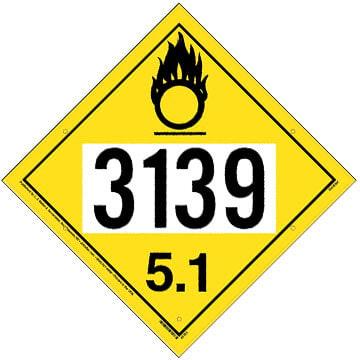 3139 Placard - Division 5.1 Oxidizer