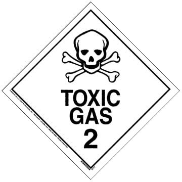 International Division 2.3 Toxic Gas Placard - Worded