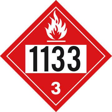 1133 Placard - Class 3 Flammable Liquid