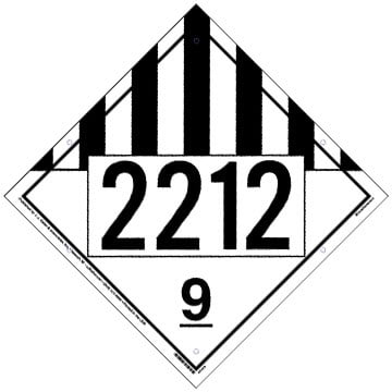 2212 Placard - Class 9 Miscellaneous
