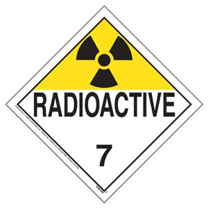 Class 7 Radioactive Placard - Worded