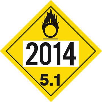 2014 Placard - Division 5.1 Oxidizer
