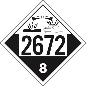 2672 Placard - Class 8 Corrosive