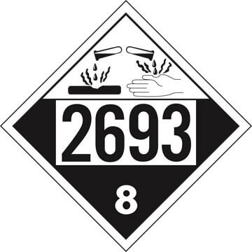 2693 Placard - Class 8 Corrosive