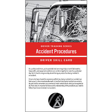 Accident Procedures: Driver Training Series - Driver Skills Cards