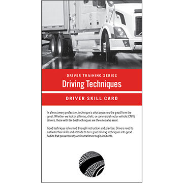 Driving Techniques: Driver Training Series - Driver Skills Cards