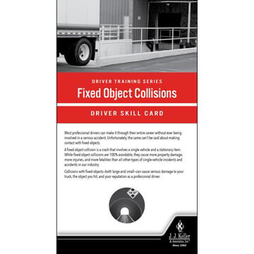 Fixed Object Collisions: Driver Training Series - Driver Skills Cards
