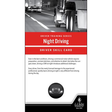 Night Driving: Driver Training Series - Driver Skills Cards
