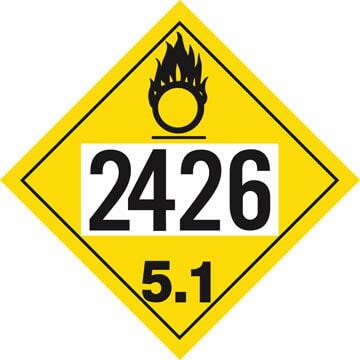 2426 Placard - Division 5.1 Oxidizer