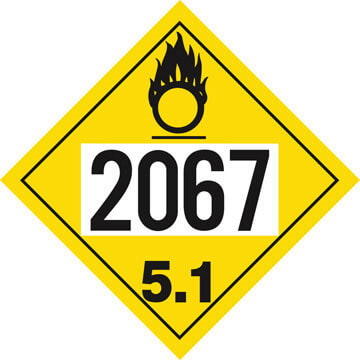 2067 Placard - Division 5.1 Oxidizer
