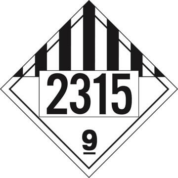 2315 Placard - Class 9 Miscellaneous