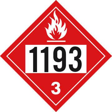 1193 Placard - Class 3 Flammable Liquid