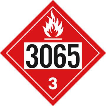 3065 Placard - Class 3 Flammable Liquid