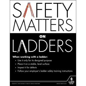 Safety Matters on Ladders - Construction Safety Poster