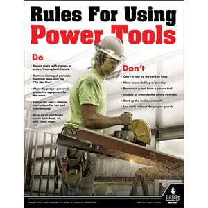 Power Tools - Construction Safety Poster