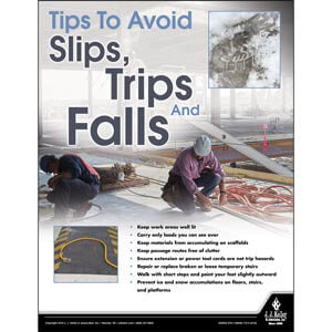 Avoid Slips - Construction Safety Poster