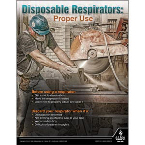 Disposable Respirators - Construction Safety Poster