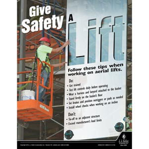 Give Safety A Lift - Construction Safety Poster