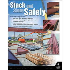 Stack and Store Safely- Construction Safety Poster