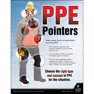 PPE Pointers - Construction Safety Poster