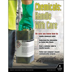 Chemicals: Handle With Care - Construction Safety Poster