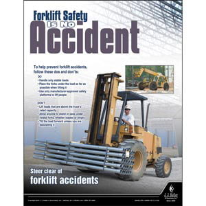 Forklift Safety Is No Accident - Construction Safety Poster