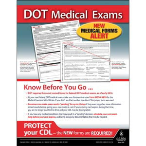 DOT Medical Exams   Motor Carrier Safety Poster