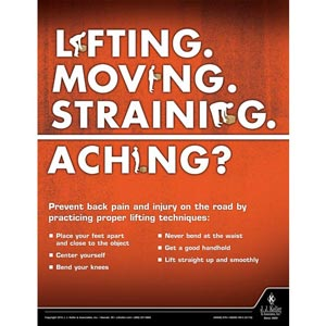Back Pain - Workplace Safety Training Poster