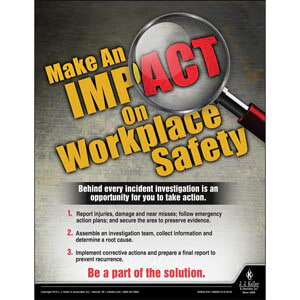 Make An Impact On Workplace Safety - Workplace Safety Training Poster