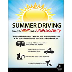 Summer Driving - Driver Awareness Safety Poster