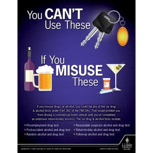 You Can't Use Your Keys - Driver Awareness Safety Poster