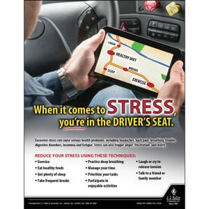 Stress - Driver Awareness Safety Poster