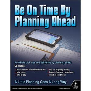 Be On Time - Transportation Safety Risk Poster