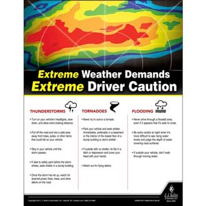 Extreme Weather - Transportation Safety Poster