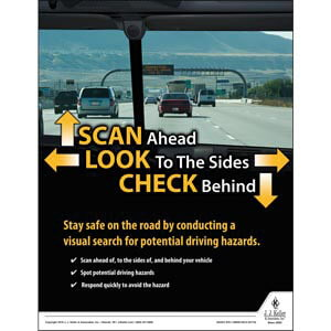 Scan Ahead - Transportation Safety Poster