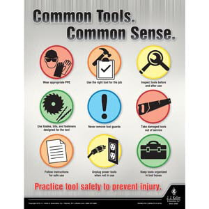 Common Tools - Workplace Safety Training Poster