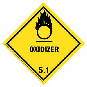 Hazardous Materials Labels - Class 5, Division 5.1 -- Oxidizer - Paper, Roll