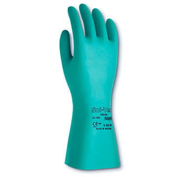 Ansell 37-145 Sol-Vex® Nitrile Immersion Gloves