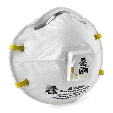3M™ Disposable Particulate Respirator 8210V, N95 w/ 3M Cool Flow™ Exhalation Valve