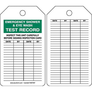 Emergency Shower & Eye Wash - Safety Tag
