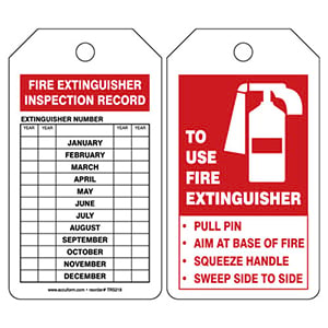 To Use Fire Extinguisher - Safety Tag