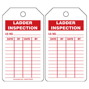 Ladder Inspection and Record - Safety Tag