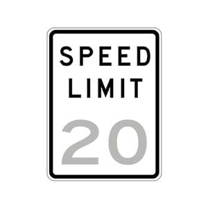 Speed Limit 20 Sign