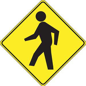 Pedestrian Crossing Sign - Wordless
