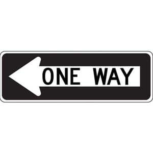 One Way Sign - Left Arrow