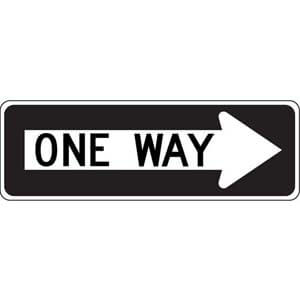 One Way Sign - Right Arrow