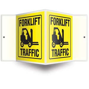 Forklift Traffic Sign - 3D Projection
