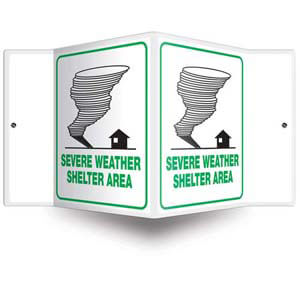 Severe Weather Shelter Sign - 3D Projection