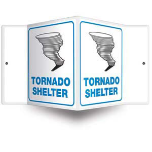 Tornado Shelter Sign - 3D Projection